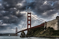 The Golden Gate Bridge in San Francisco is an iconic symbol of the area and welcomes visitors from all over the world.