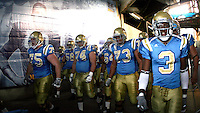 11 November 2006: #75 Kevin Brown, #74 Noah Sutherland, #73 Micah Kia, #3 Rodney Van walk the tunnel before the start of the UCLA Bruins 25-7 win over the Oregon State Beavers Pac-10 college football game at the Rose Bowl.<br />