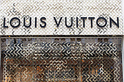 Sign for high end fashion and exclusive brand Louis Vuitton.