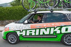 11.07.2015, Kitzbühel, AUT, Österreich Radrundfahrt, 7. Etappe, von Kitzbühel nach Innsbruck, im Bild Stefan Rucker (AUT, sportlicher Leiter, Hrinkow Advarics Cycling Team) // Director sportive Stefan Rucker of Team Hrinkow Adverics Cycleang during the Tour of Austria, 7th Stage, from Kitzbühl to Innsbruck, Kitzbühel, Austria on 2015/07/11. EXPA Pictures © 2015, PhotoCredit: EXPA/ Reinhard Eisenbauer