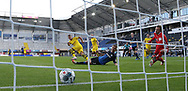 GOAL Tor zum 0:1 durch HAZARD, BVB, Hintertor, Remote during the Paderborn vs Borussia Dortmund Bundesliga match at Benteler Arena, Paderborn, Germany on 31 May 2020.