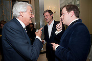MARQUESS OF LONDONDERRY; ZAC GOLDSMITH; TOM PARKER BOWLES, Book launch of Lady Annabel Goldsmith's third book, No Invitation Required. Claridges's. London. 11 November 2009