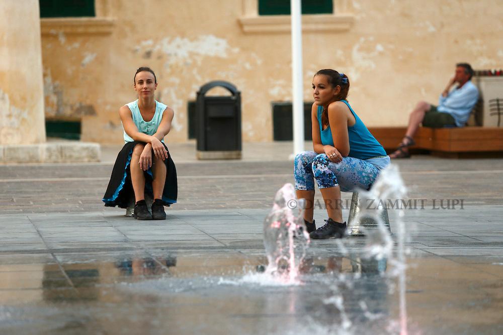 Open Waters.by Irina Pauls.St George's Square, Valletta.Photo by DARRIN ZAMMIT LUPI