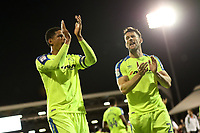 LONDON, ENGLAND - MAY 14:LONDON, ENGLAND - MAY 14:Derby's Curtis Davies, thanks the fans at the end of the game along with David Nugent