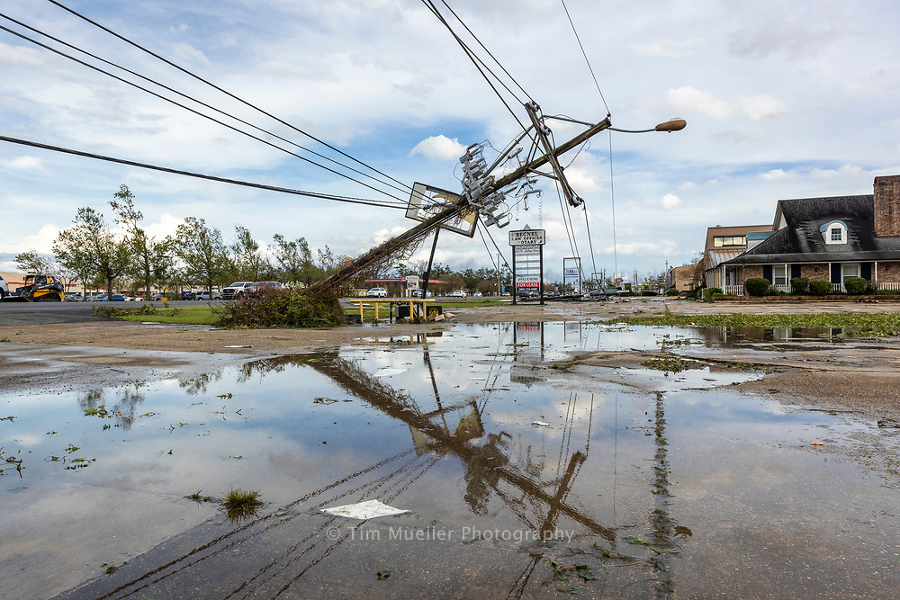 Downed power lines in LaPlace, La.