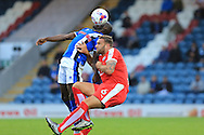 Ian Evatt, Semni Odelusi during the EFL Cup match between Rochdale and Chesterfield at Spotland, Rochdale, England on 9 August 2016. Photo by Daniel Youngs.