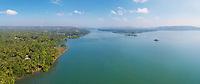 Aerial view of North Goa landscape, India