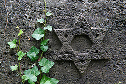 Detail from the old Jewish cemetery in Prenzlauer Berg in Berlin Germany