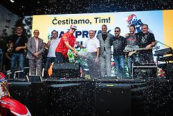 Champane shower during sprejem Tima Gajsreja, on Avgust 27, 2019 in Maribor, Slovenia. Photo by Blaž Weindorfer / Sportida
