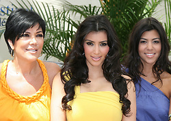 Kim Kardashian with her mother Kris and sister Kourtney attend a photocall promoting the television series 'Keeping Up With the Kardashians' on the fourth day of the 48th Monte-Carlo Television Festival held at Grimaldi Forum in Monaco on June 11, 2008. Photo by Denis Guignebourg/ABACAPRESS.COM  | 154987_04 Monaco Monaco