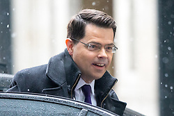 © Licensed to London News Pictures. 10/12/2017. London, UK. Secretary of State for Northern Ireland James Brokenshire arriving at BBC Broadcasting House to appear on The Sunday Politics Show this morning. Photo credit : Tom Nicholson/LNP