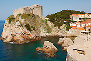 Stock photos of views of The Fortress of Lovijenac - Dubrovnik - Croatia .<br /> <br /> Visit our MEDIEVAL PHOTO COLLECTIONS for more   photos  to download or buy as prints https://funkystock.photoshelter.com/gallery-collection/Medieval-Middle-Ages-Historic-Places-Arcaeological-Sites-Pictures-Images-of/C0000B5ZA54_WD0s