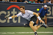 ANDY MURRAY of Great Britain plays against Teymuraz Gabashvili of Russia at Day 3 of the Citi Open at the Rock Creek Tennis Center in Washington, D.C. Murray lost in 3 sets.