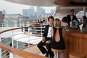 DANIEL MANNIX; ROBYN MANNIX, Breast Cancer Haven 10th Anniversary Gala Event aboard Super Luxury Yacht Seabourn Sojourn. Off Canary Wharf. London. 5 June 2010. -DO NOT ARCHIVE-© Copyright Photograph by Dafydd Jones. 248 Clapham Rd. London SW9 0PZ. Tel 0207 820 0771. www.dafjones.com.