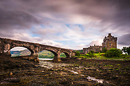 Eilean Donan Castle is one of the most photographed castles in Scotland. It governs the confluence of three tidal lochs - Loch Duich, Loch Long and Loch Alsh - in the western Highlands of Scotland near the town of Dornie.