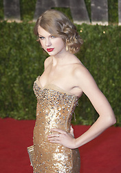 August 10, 2017 - Los Angeles, California, United States of America - Taylor Swift testified on Thursday August 10, 2017 in a Denver Court in Denver Colorado accusing DJ David Muller of groping her.  FILE PHOTO:  Taylor Swift at the Vanity Fair Oscar party at the .Sunset Towers in West Hollywood, California, Sunday 27 February 2011. JAVIER ROJAS/PI (Credit Image: © Prensa Internacional via ZUMA Wire)