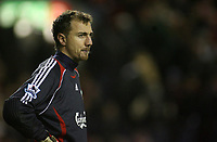 Photo: Paul Thomas.<br /> Liverpool v Arsenal. Carling Cup. 09/01/2007.<br /> <br /> Keeper Jerzy Dudek of Liverpool spits after their 6-3 loss. It this his last game for Liverpool..... ??