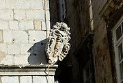 Carved stone plaque, Dubrovnik old town, Croatia