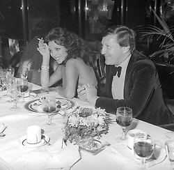 JOAN COLLINS & RON KASS at a party following the private screening of Players held at Regine's, Kensington, London on 19th June 1979