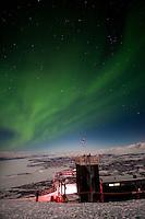Northern Lights over Abisko National Park and Aurora Sky Station, Swedish Lapland