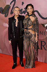 Julien Macdonald and Nicole Scherzinger attending The Fashion Awards 2016 at The Royal Albert Hall in London. <br /> <br /> Picture Credit Should Read: Doug Peters/ EMPICS Entertainment