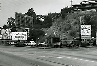 1973 Used car lot at Sunset Blvd. & Queens Rd.