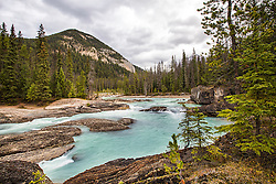 The Kicking Horse River on a stormy day, Yoho National Park, British Columbia, Canada