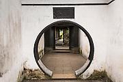 Circular doorway leading to the Exquisite Jade in Yu Yuan Gardens Shanghai, China