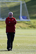 Warren Gatland , the Wales rugby team head coach during the Wales rugby team training session at the Vale Resort  in Hensol, near Cardiff , South Wales on Tuesday 20th February 2018.  the team are preparing for their next NatWest 6 Nations 2018 championship match against Ireland this weekend.   pic by Andrew Orchard
