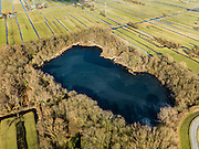 Nederland, Zuid-Holland, Lekkerkerk, 20-02-2012; Schuwacht, eendenkooi Bakkerswaal, restant doorbraak van de dijk van rivier de Lek. Polder Schuwacht..Duck decoy (pond) and the remainder of the  breakthrough of the embankment of the river Lek..luchtfoto (toeslag), aerial photo (additional fee required).copyright foto/photo Siebe Swart