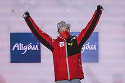 04.03.2021, Oberstdorf, GER, FIS Weltmeisterschaften Ski Nordisch, Oberstdorf 2021, Herren, Nordische Kombination, Einzelbewerb, Siegerehrung, im Bild Weltmeister und Goldmedaillengewinner Johannes Lamparter (AUT) // World champion and gold medalist Johannes Lamparter of Austria during the winner ceremony of men Nordic combined Single of FIS Nordic Ski World Championships 2021 in Oberstdorf, Germany on 2021/03/04. EXPA Pictures © 2021, PhotoCredit: EXPA/ Dominik Angerer