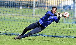 Cape Town-180823- Cape Town City player  Samora Motlou at training preparing for their up comingMTN 8 semi-final against Sundowns at Cape Town Stadum.Photographer :Phando Jikelo/African News Agency/ANA