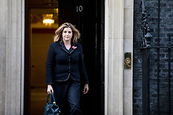 © Licensed to London News Pictures. 09/11/2017. London, UK. Newly-appointed Secretary of State for International Development Penny Mordaunt leaves 10 Downing Street after meeting with Prime Minister Theresa May. Photo credit: Rob Pinney/LNP