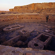 Ancient kiva in Chaco Culture National Historic Park, NM.