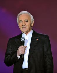 French singer Charles Aznavour during the 25th 'Victoires de la Musique' ceremony held at the Zenith hall in Paris, France on March 6, 2010. Photo by Christophe Guibbaud/ABACAPRESS.COM