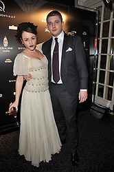 JAIME WINSTONE and rapper Ben Drew AKA Plan B at Quintessentially's 10th birthday party held at The Savoy Hotel, London on 13th December 2010.