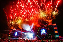 Fogos durante a 25ª edição do Planeta Atlântida. O maior festival de música do Sul do Brasil ocorre nos dias 31 Janeiro e 01 de fevereiro, na SABA, praia de Atlântida, no Litoral Norte do Rio Grande do Sul. FOTO: <br /> Anselmo Cunha/ Agência Preview