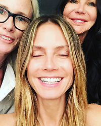 """Heidi Klum releases a photo on Instagram with the following caption: """"Getting ready for @projectrunway with @lindahaymakeup @wendyiles_hair"""". Photo Credit: Instagram *** No USA Distribution *** For Editorial Use Only *** Not to be Published in Books or Photo Books ***  Please note: Fees charged by the agency are for the agency's services only, and do not, nor are they intended to, convey to the user any ownership of Copyright or License in the material. The agency does not claim any ownership including but not limited to Copyright or License in the attached material. By publishing this material you expressly agree to indemnify and to hold the agency and its directors, shareholders and employees harmless from any loss, claims, damages, demands, expenses (including legal fees), or any causes of action or allegation against the agency arising out of or connected in any way with publication of the material."""