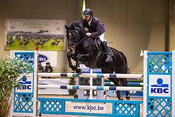 Grouwels Sven, BEL, Indiva van de Langeweg<br /> Klasse Midden<br /> Nationaal Indoor Kampioenschap Pony's LRV <br /> Oud Heverlee 2019<br /> © Hippo Foto - Dirk Caremans<br /> 09/03/2019