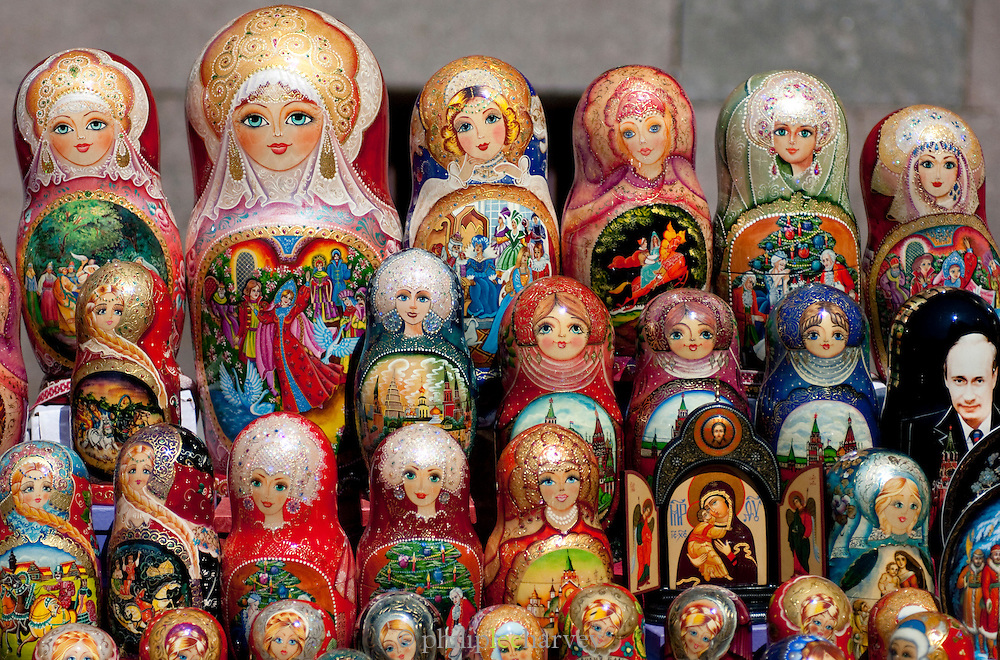 Russian Dolls for sale, Red Square, Moscow, Russia