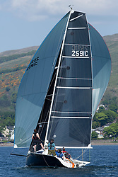 Day 3 Scottish Series, SAILING, Scotland.<br /> <br /> Stealthy, Stealth 82591C, Tarbert Loch Fyne YC<br /> <br /> The Scottish Series, hosted by the Clyde Cruising Club is an annual series of races for sailing yachts held each spring. Normally held in Loch Fyne the event moved to three Clyde locations due to current restrictions. <br /> <br /> Light winds did not deter the racing taking place at East Patch, Inverkip and off Largs over the bank holiday weekend 28-30 May. <br /> <br /> Image Credit : Marc Turner / CCC