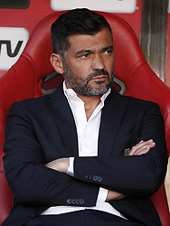 October 7, 2018 - Lisbon, Portugal - Sergio Conceicao of Porto during the Portuguese League football match between SL Benfica and FC Porto at Luz Stadium in Lisbon on October 7, 2018. (Credit Image: © Carlos Palma/NurPhoto/ZUMA Press)