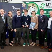27.04.2016.          <br />  Kalin Foy and Ciara Coyle win SciFest@LIT<br /> Kalin Foy and Ciara Coyle from Colaiste Chiarain Croom to represent Limerick at Ireland's largest science competition.<br /> <br /> Crescent College students, Pearse McMullen, Cian McDonnell and Karl Moloney's project, Exocan won the SFI Space Award.  Pearse McMullen, Cian McDonnell and Karl Moloney are pictured with George Porter, SciFest, Sinead McDonnell, Limerick City and County Council and Brian Aherne, Intel<br /> <br /> Of the over 110 projects exhibited at SciFest@LIT 2016, the top prize on the day went to Kalin Foy and Ciara Coyle from Colaiste Chiarain Croom for their project, 'To design and manufacture wireless trailer lights'. The runner-up prize went to a team from John the Baptist Community School, Hospital with their project on 'Educating the Youth of Ireland about Farm Safety'.  Picture: Alan Place