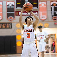 In Gallup, Lytrell Kinsel (3) of Gallup takes aim for a free throw against Bloomfield on Thursday. Gallup won 68-47.