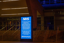"""© Licensed to London News Pictures . 27/03/2020. Manchester, UK. GV of the Manchester Central Convention Centre as today the British Government announced that it will be converted in to a new """" Nightingale Hospital """" to care for those infected with Coronavirus ( Covid 19 ). Photo credit: Joel Goodman/LNP"""