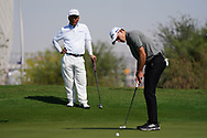 Rasmus Hojgaard (DEN) on the 1st during the Pro-Am of the Commercial Bank Qatar Masters 2020 at the Education City Golf Club, Doha, Qatar . 04/03/2020<br /> Picture: Golffile | Thos Caffrey<br /> <br /> <br /> All photo usage must carry mandatory copyright credit (© Golffile | Thos Caffrey)