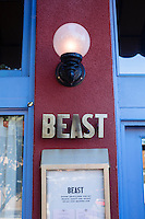 Beast, a Northeast Portland restaurant from chef Naomi Pomeroy. Portland, Oregon.