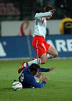 Fotball<br /> VM-kvalifisering<br /> Polen v Azerbaijan<br /> 26. mars 2005<br /> Foto: Digitalsport<br /> NORWAY ONLY<br /> MACIEJ ZURAWSKI /WHITE POLAND/ & AFTANDIL HADZIJEW
