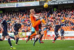 Dundee United's Thomas Nilkelsen. Dundee United 1 v 0 Falkirk, Scottish Championship played 14/4/2018 at Dundee United's stadium Tannadice Park.