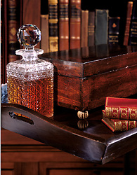 library brandy serving tray